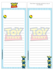 List Paper Toy Story