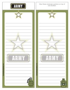 List paper army