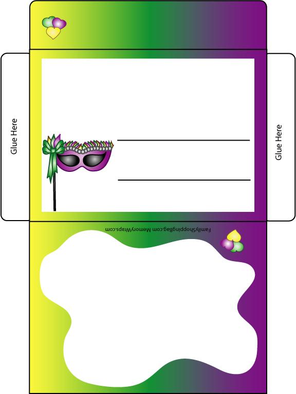 Mardi Gras Card Letter Envelope 2