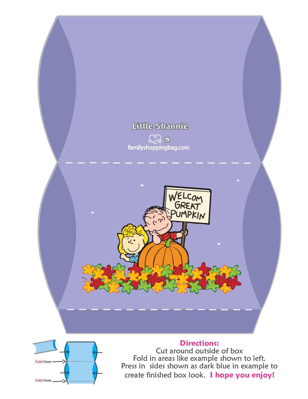 Medium Box Peanuts Halloween