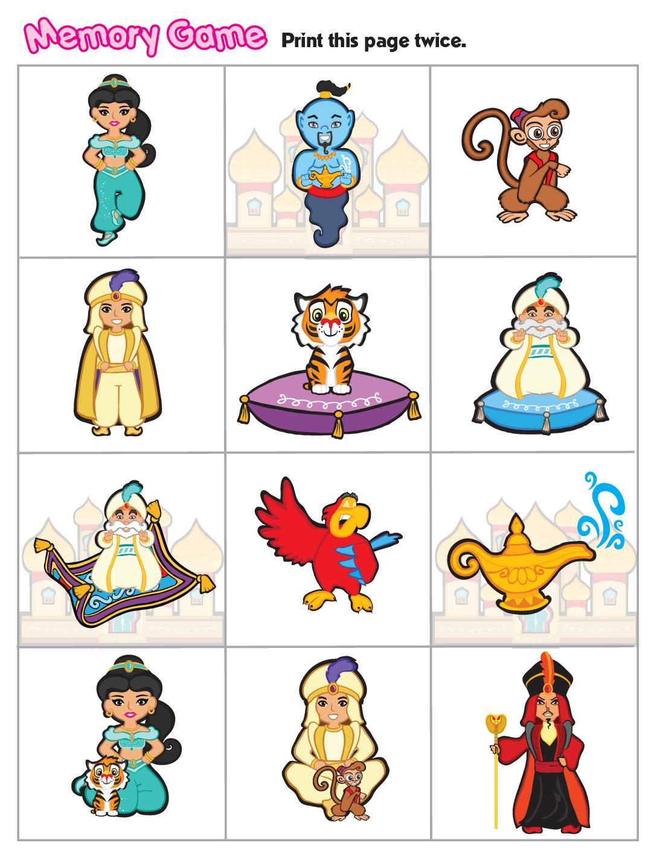 Memory Game Aladdin