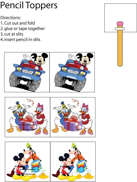 Mickey Pencil Topper
