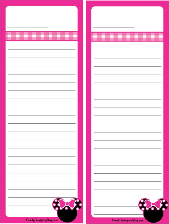 Minnie Party Check List