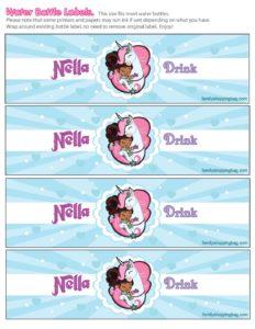 Nella Knight Drink Label