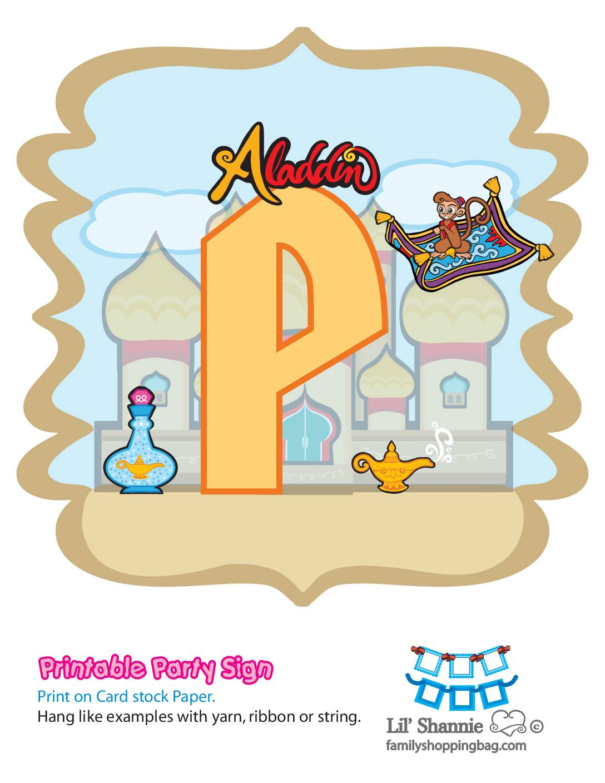 P Banner Aladdin