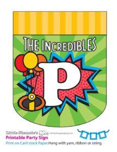 P Banner Incredibles