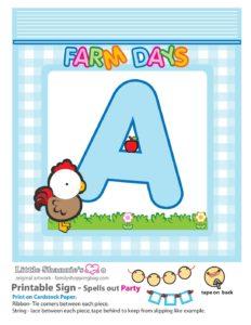 Party Banner A Farm