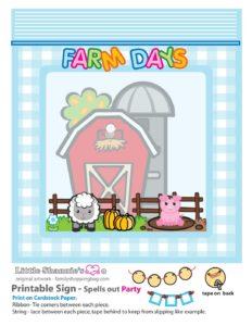 Party Banner Left Side Farm