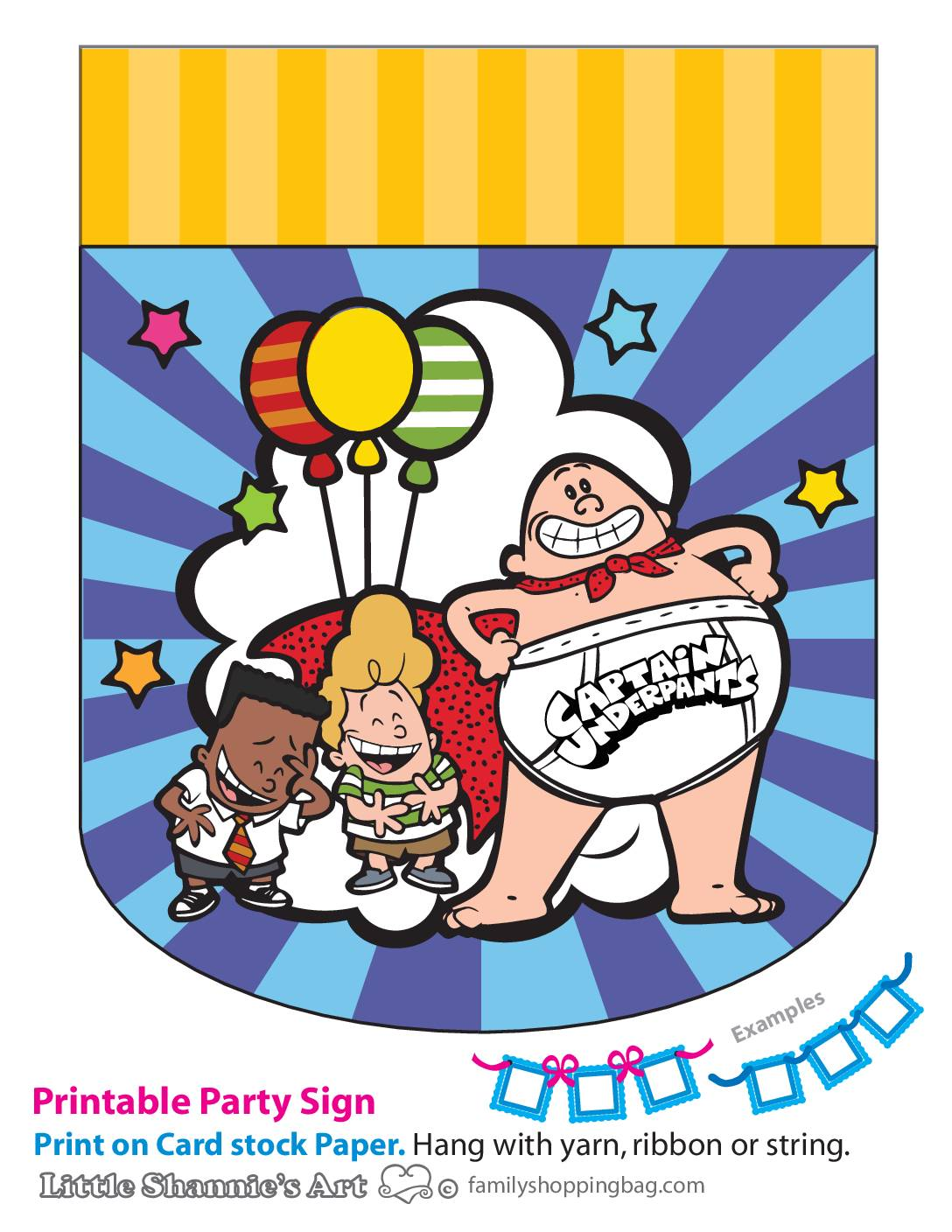 Party Banner Right Captain Underpants
