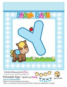 Party Banner Y Farm