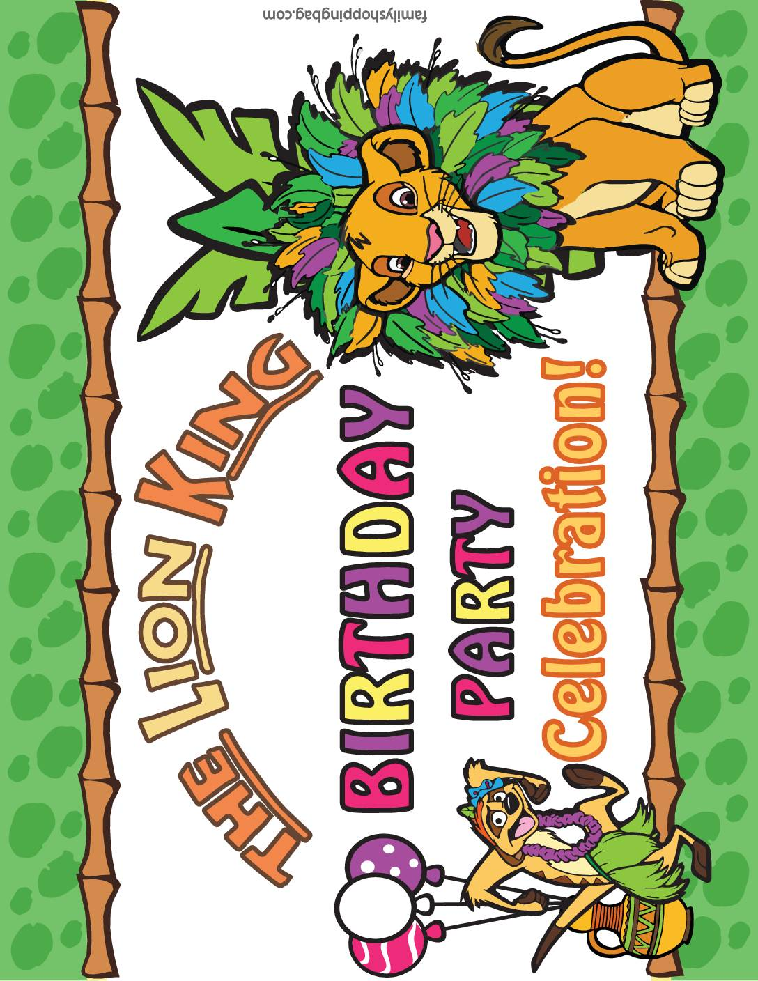 Party Sign 2 Lion King