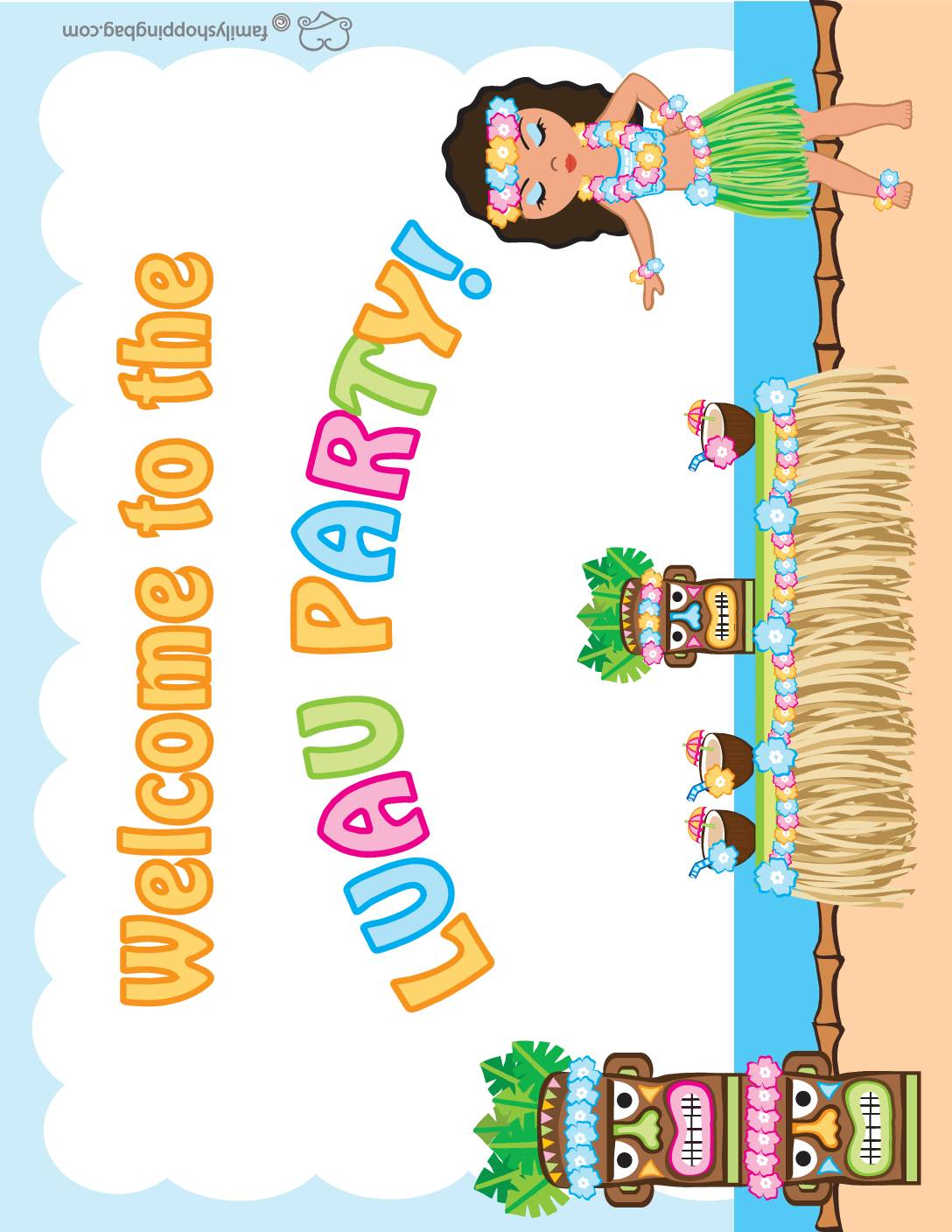 Party Sign 2 Luau