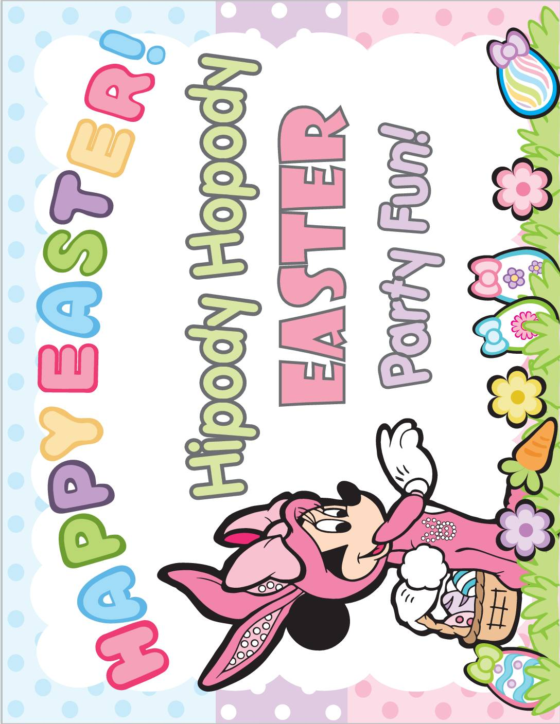 Party Sign 2 Mickey Mouse Easter