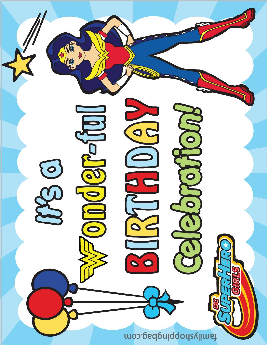 Party Sign DC Super Hero Girls