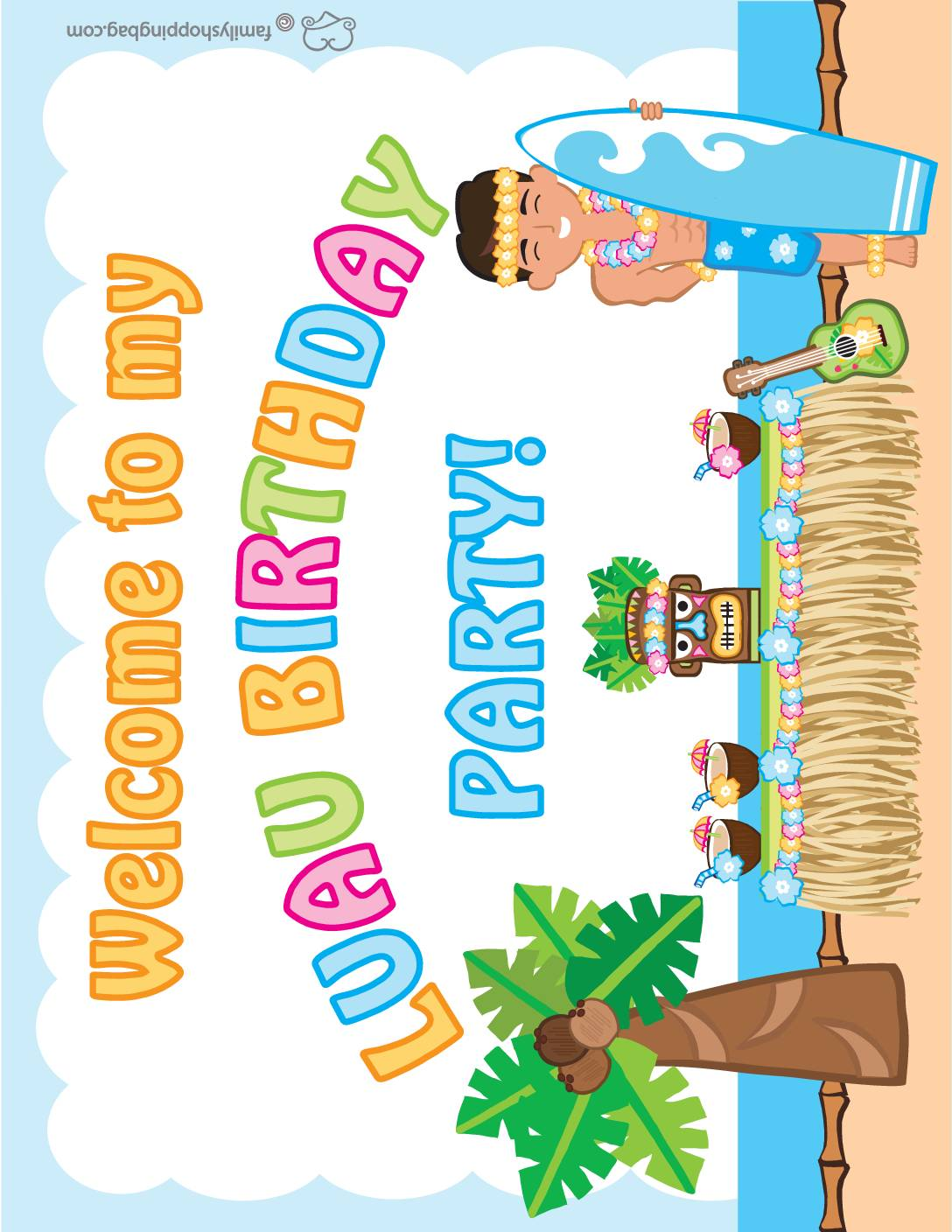 Party Sign Luau