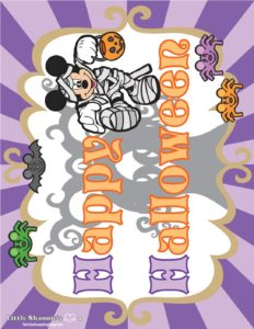 Party Sign Mickey Halloween