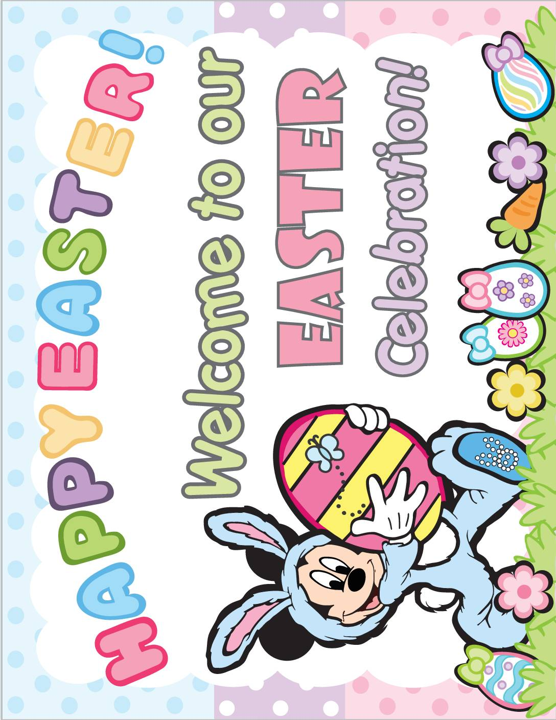 Party Sign Mickey Mouse Easter