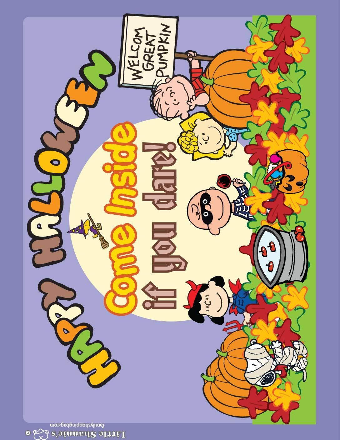 Party Sign Peanuts Halloween