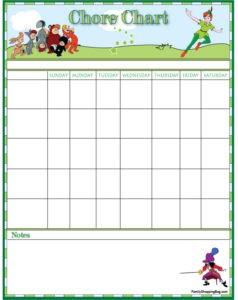 Peter Pan Chart