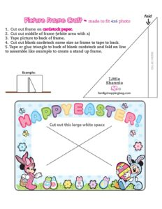 Picture Frame Mickey Mouse Easter