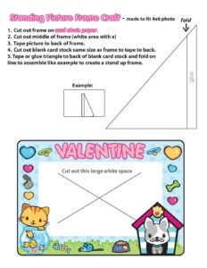 Picture Frame Valentine Pups and Kittens