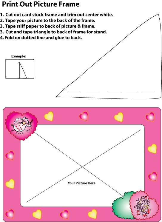 Pink Heart Picture Frame