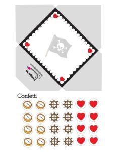 Pirate Envelope Valentines