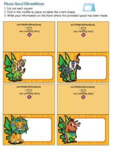 Place Card Lion King
