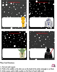 Star Wars Place Cards