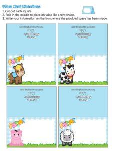 Place Cards Farm