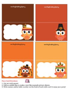 Place Cards Thanksgiving