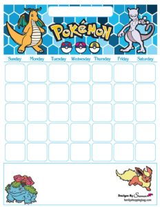 Pokemon Calendar
