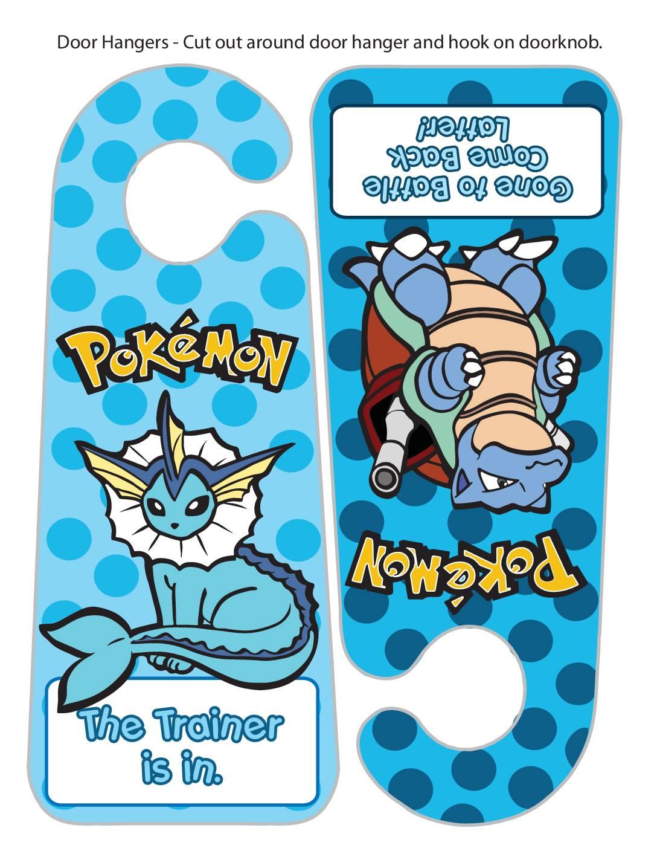 Pokemon Door Hanger