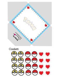 Pokemon Envelope Valentines