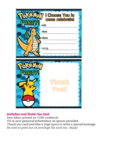 Pokemon Invitation