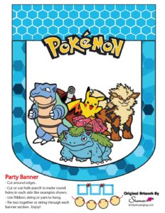 Pokemon Party Banner 8