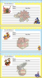 Pooh Holiday Recipe Card