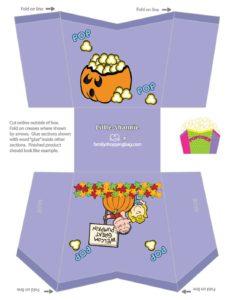 Popcorn Box Peanuts Halloween