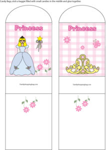 Princess Candy Bag Holder