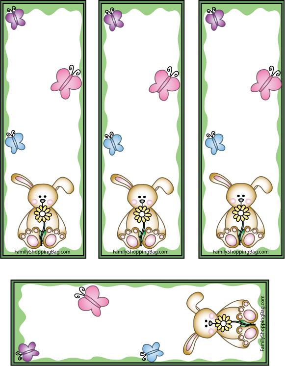Printable Bunny Bookmarks