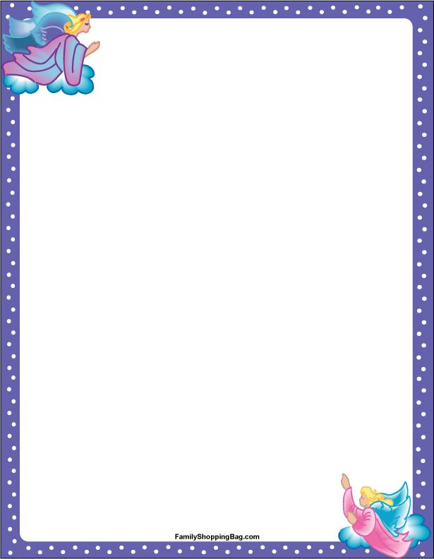 Purple Angels Stationery