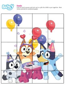 Puzzle 1 Bluey