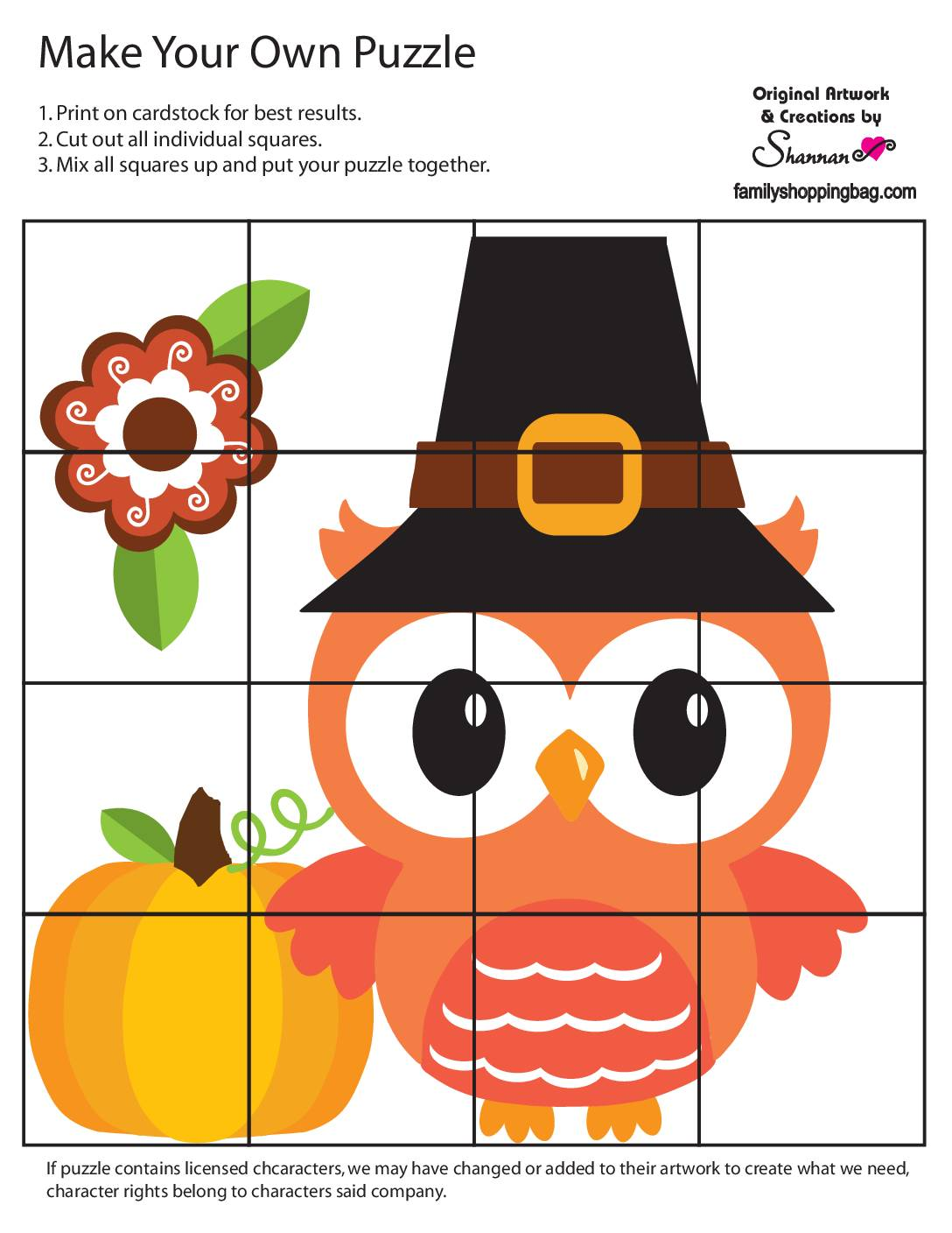 Puzzle Game 2 Thanksgiving