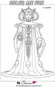Queen Amidala Color Page