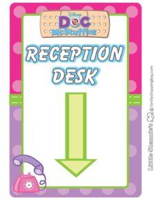Reception Sign Doc Mcstuffins