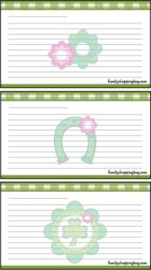 Recipe Card St. Patricks Day printable