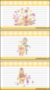 Recipe Card Thanksgiving Pooh