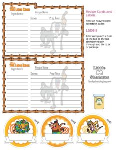 Recipe Cards Lion King