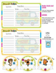 Recipe Cards Scooby Doo