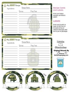 Recipe Cards army